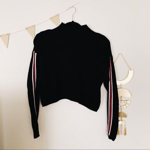 Crop Sporty Knit Sweater Top